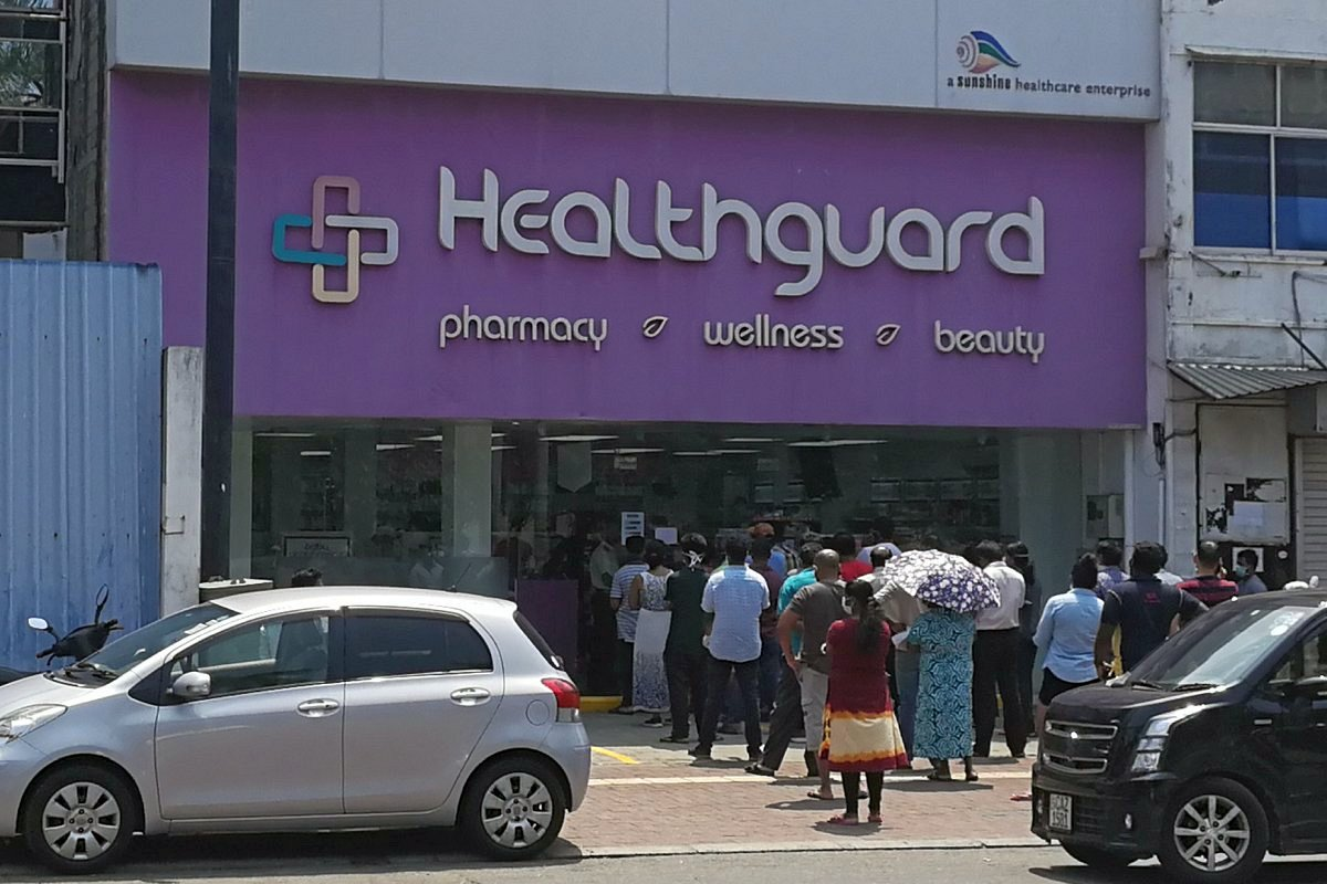 pharmacy in Colombo before the lockdown