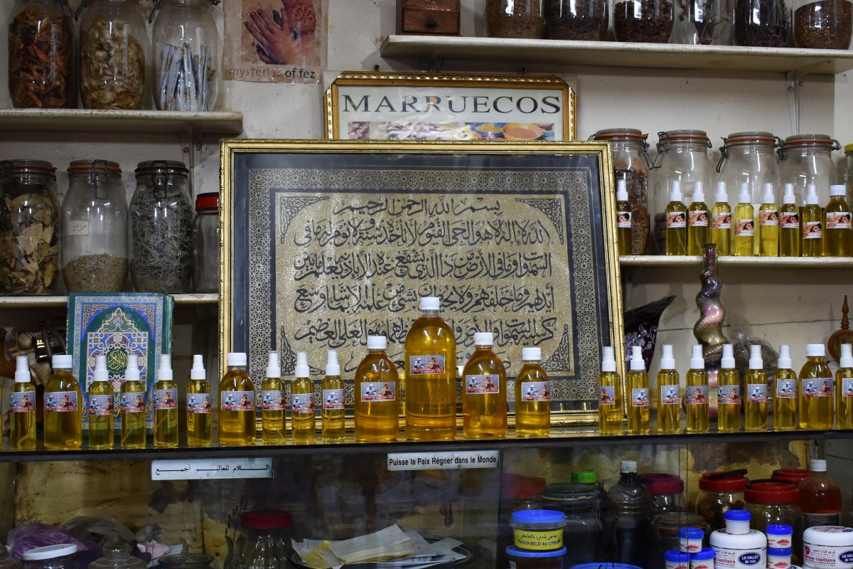 Argan oil shop in Fes
