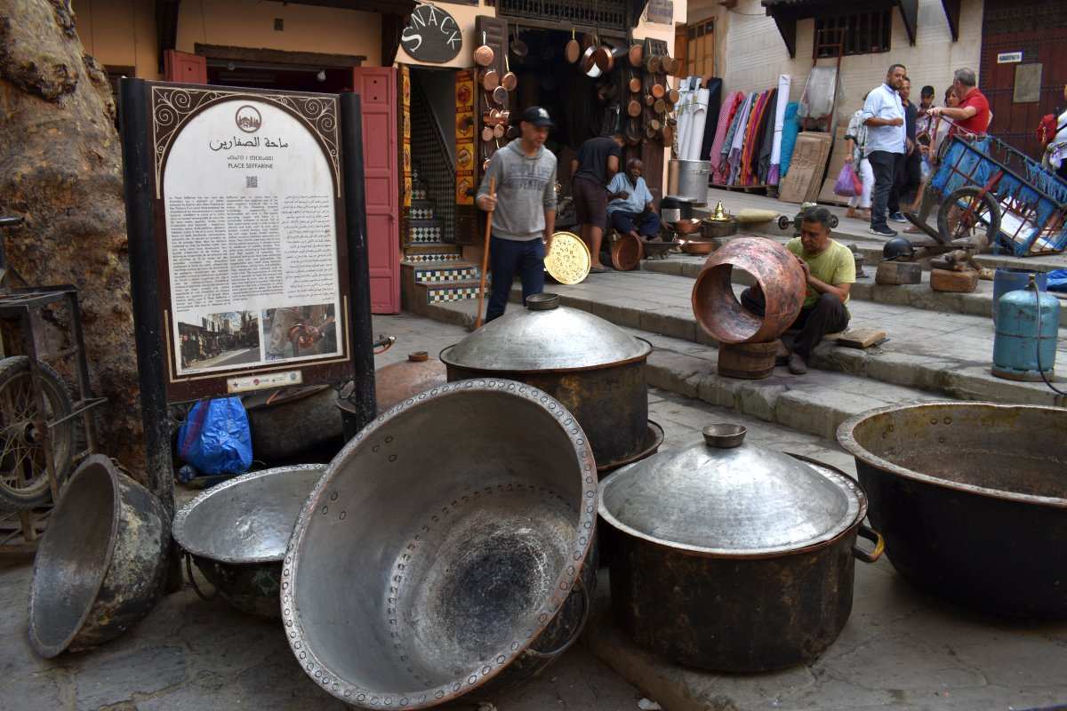 Coppersmiths workshop in Fes