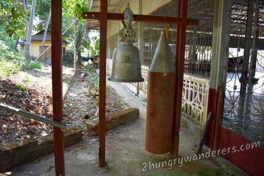 Burmese bell and a Japanese bomb shell transformed into a bell