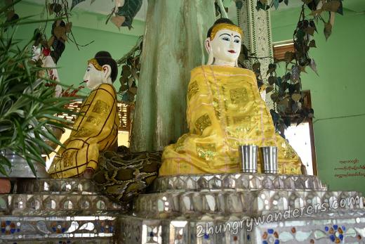 Twantay - a day trip from Yangon and what are these snakes doing in the temple?